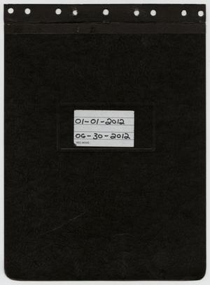 Primary view of object titled '[News Story Log: January 1 to June 30, 2012]'.