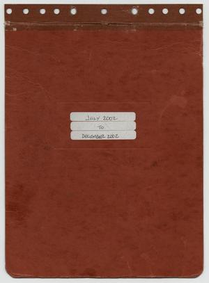 Primary view of object titled '[News Story Log: July 1 to December 31, 2002]'.