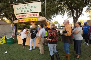 Primary view of object titled '[Denton Blues Festival concession stand]'.