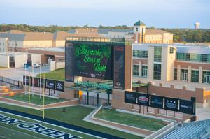 Primary view of object titled '[Apogee Stadium during Salute to Faculty Excellence event]'.