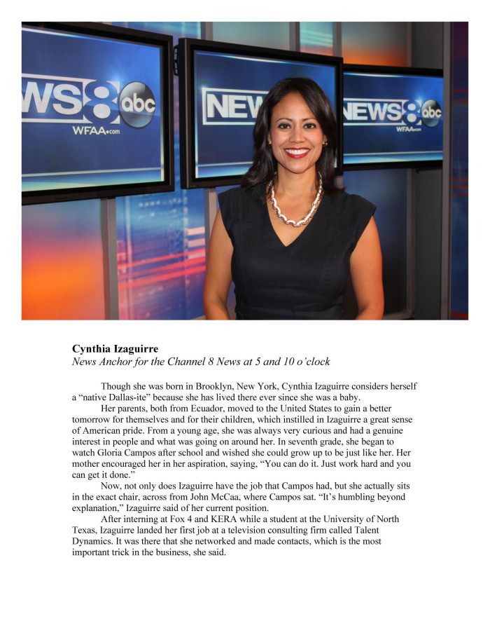 Cynthia Izaguirre, News Anchor for the Channel 8 News at 5