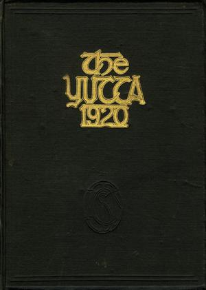 Primary view of object titled 'The Yucca, Yearbook of North Texas State Normal School, 1920'.