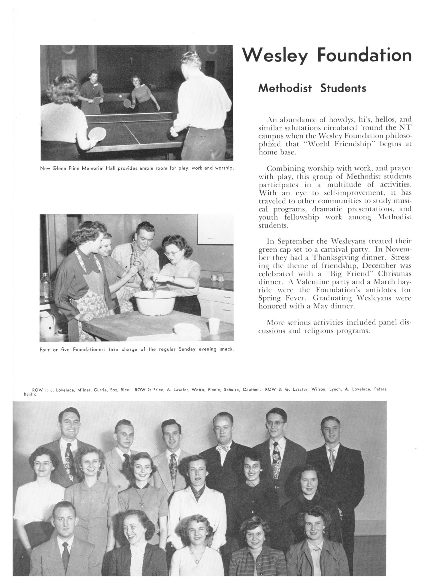 The Yucca, Yearbook of North Texas State College, 1952 - Page 382