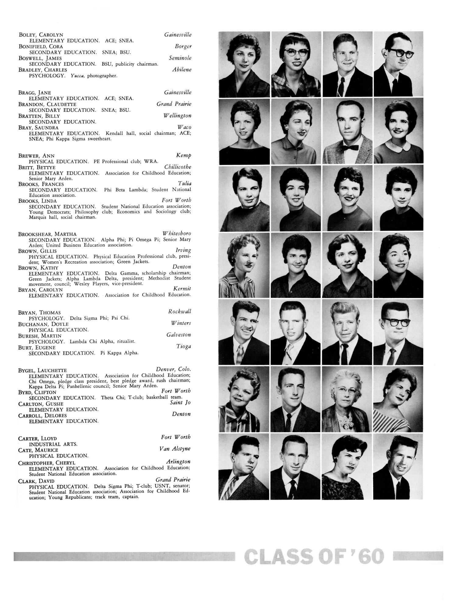 The Yucca, Yearbook of North Texas State College, 1960 - Page 265