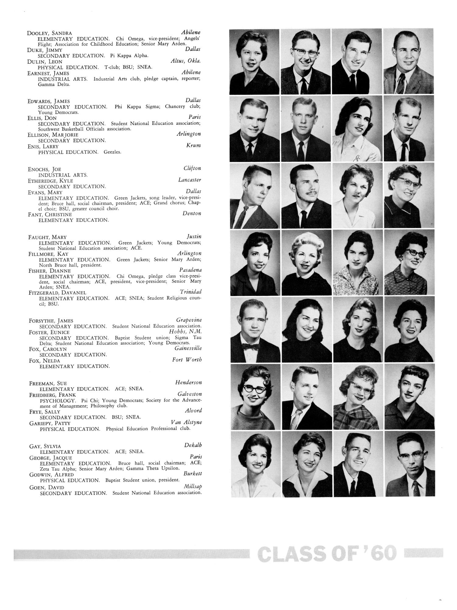 The Yucca, Yearbook of North Texas State College, 1960 - Page 267