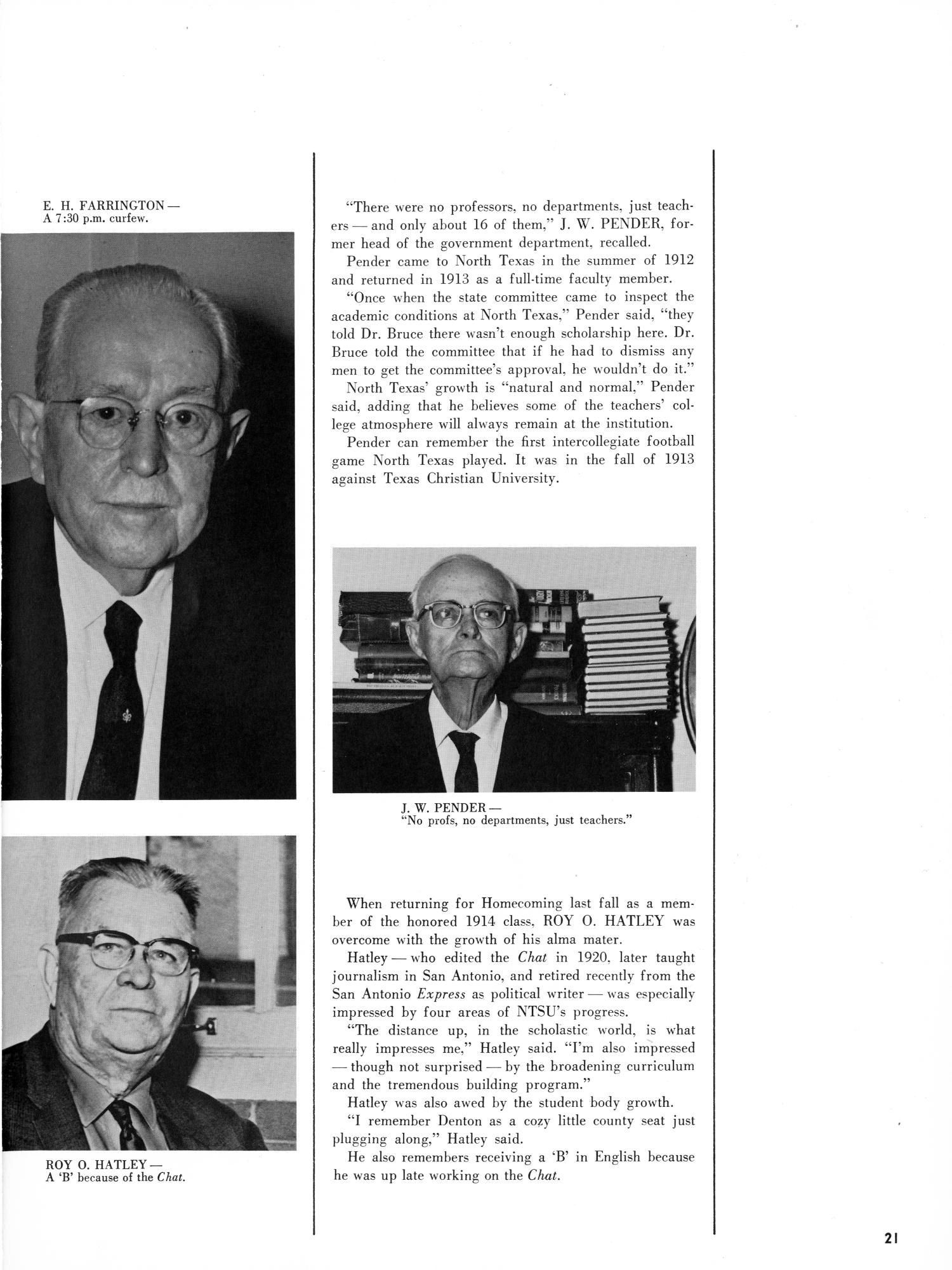 The Yucca, Yearbook of North Texas State University, 1965                                                                                                      21