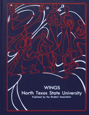 Primary view of object titled 'Wings, Yearbook of North Texas State University, 1977'.