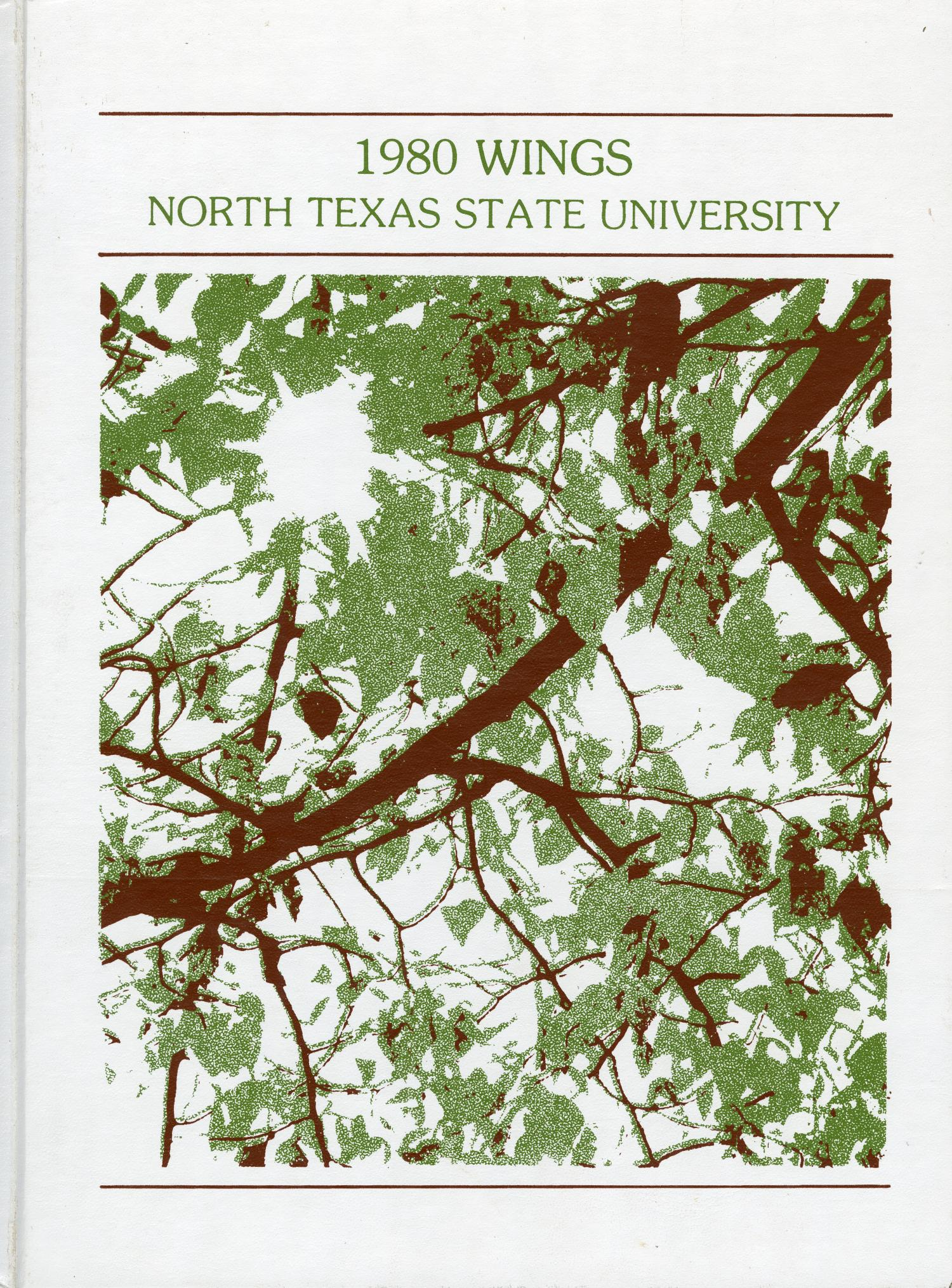 Wings, Yearbook of North Texas State University, 1980                                                                                                      Front Cover