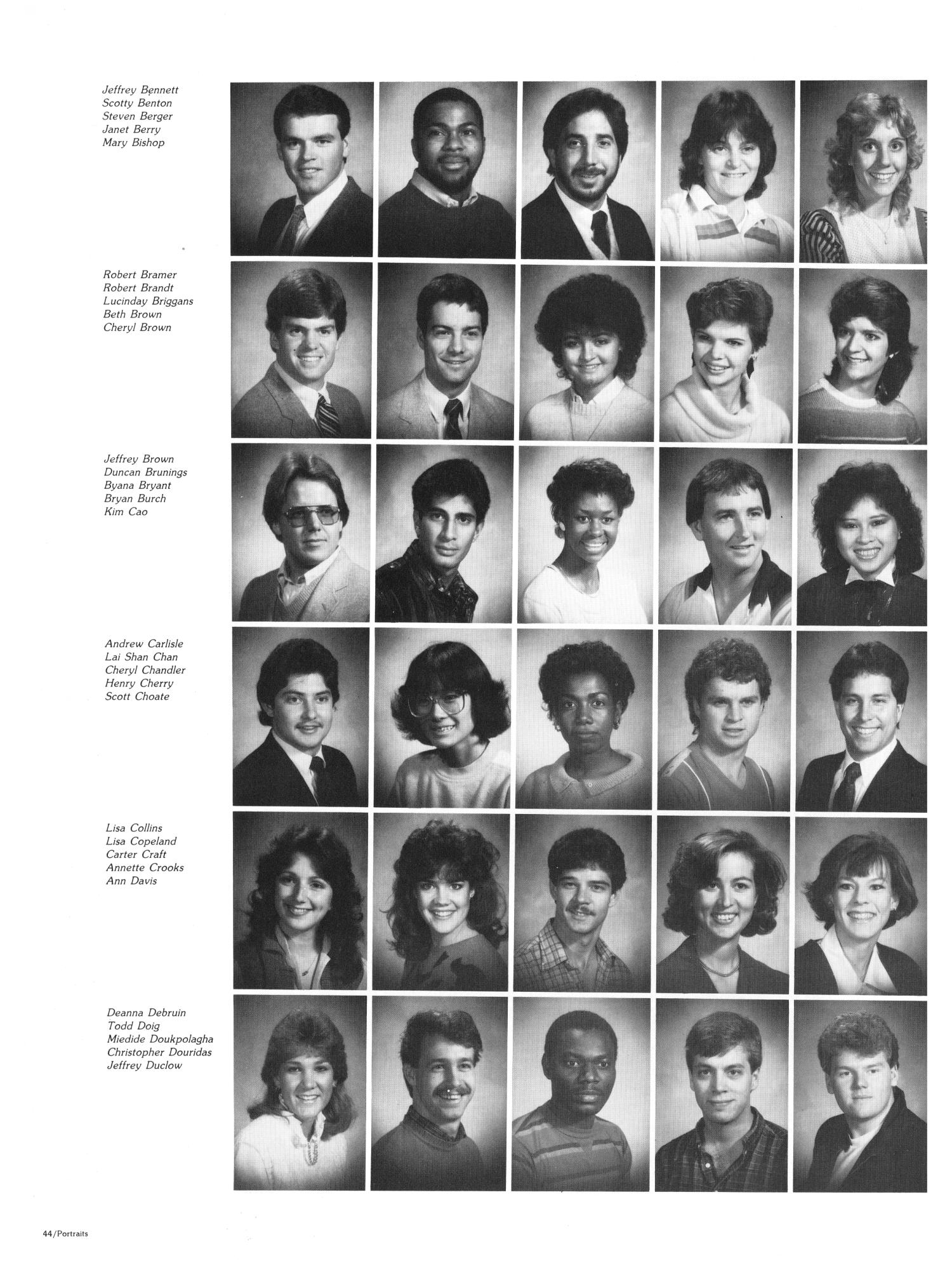 The Aerie, Yearbook of North Texas State University, 1985                                                                                                      44