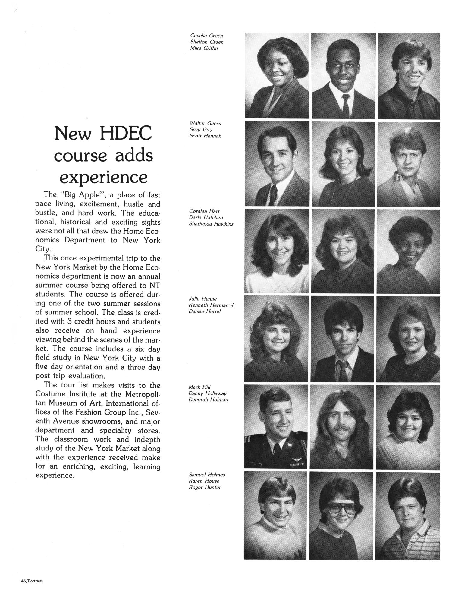 The Aerie, Yearbook of North Texas State University, 1985                                                                                                      46