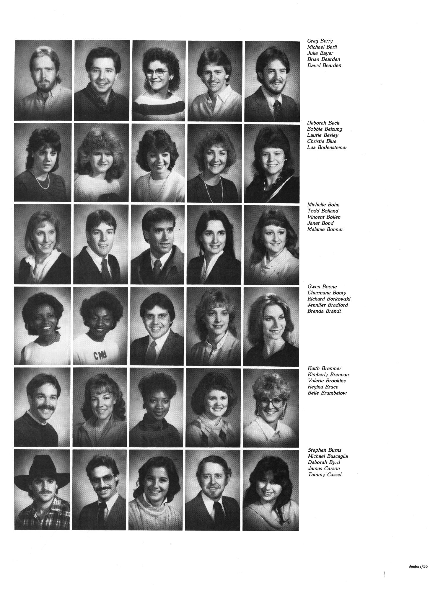 The Aerie, Yearbook of North Texas State University, 1985                                                                                                      55
