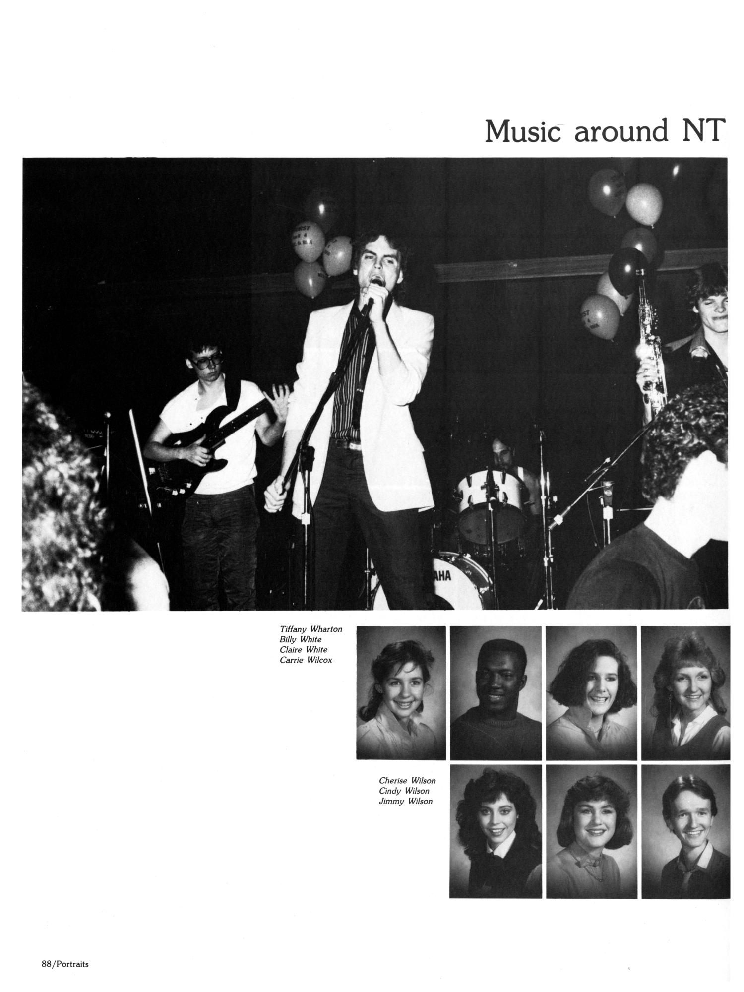 The Aerie, Yearbook of North Texas State University, 1985                                                                                                      88