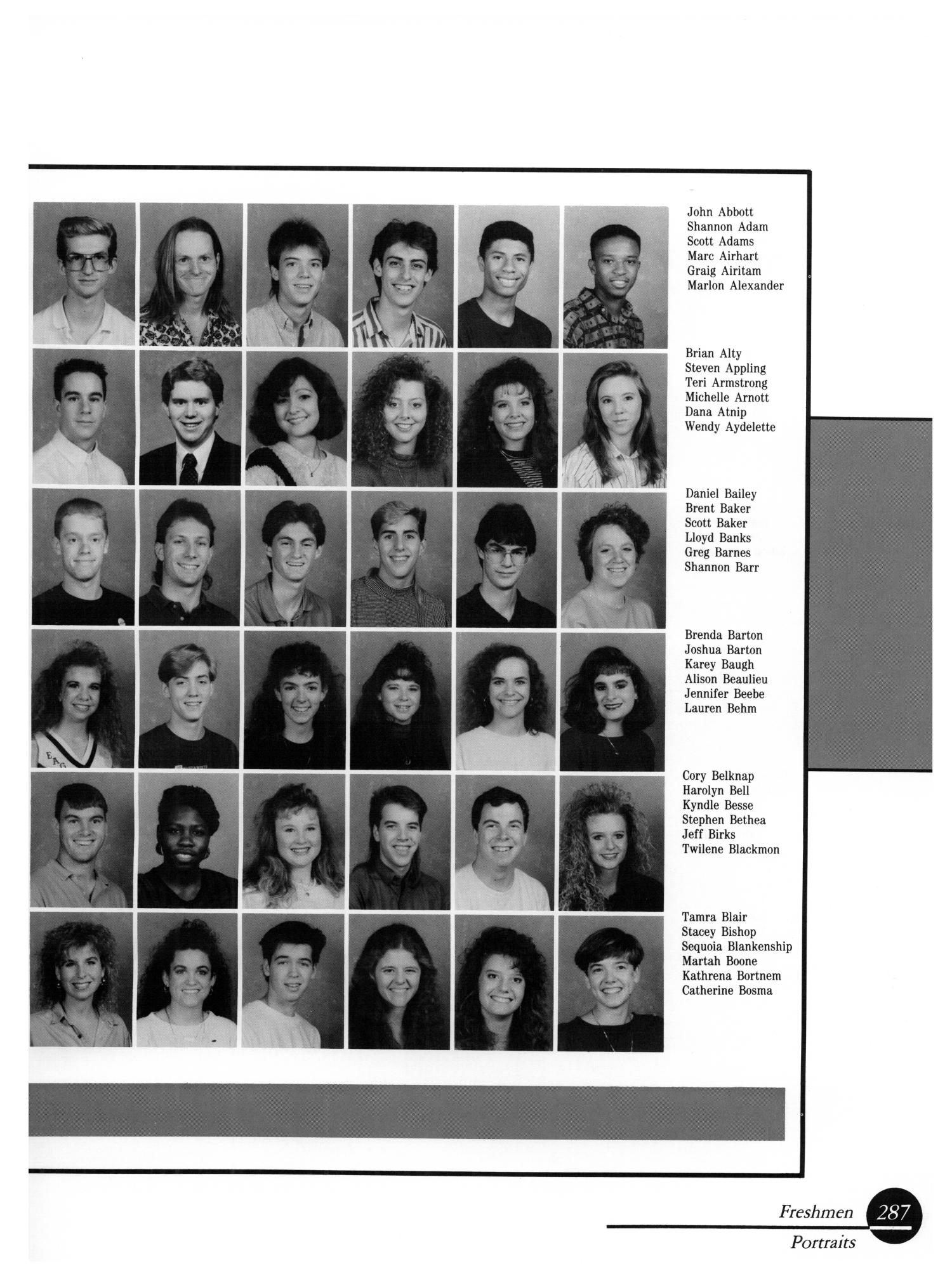 The Aerie, Yearbook of University of North Texas, 1990                                                                                                      287