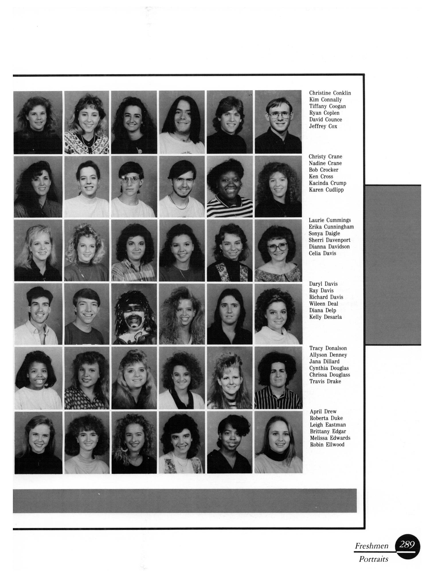 The Aerie, Yearbook of University of North Texas, 1990                                                                                                      289