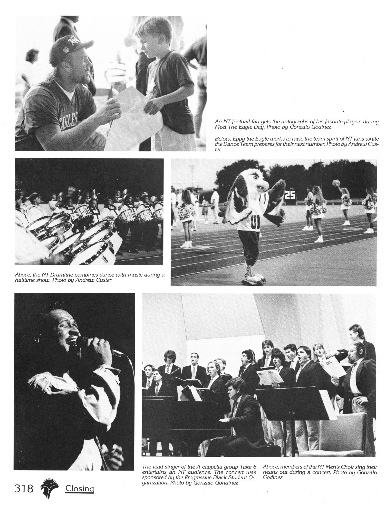 The Aerie, Yearbook of University of North Texas, 1991