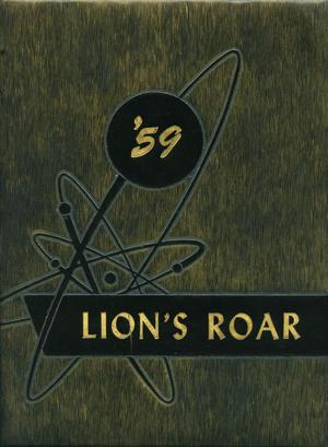 Primary view of object titled 'Lion's Roar, Yearbook of the North Texas Laboratory School, 1959'.
