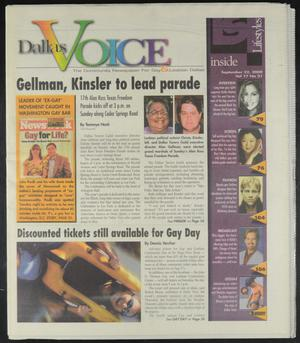 Primary view of object titled 'Dallas Voice (Dallas, Tex.), Vol. 17, No. 21, Ed. 1 Friday, September 22, 2000'.