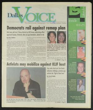 Primary view of object titled 'Dallas Voice (Dallas, Tex.), Vol. 18, No. 13, Ed. 1 Friday, July 27, 2001'.