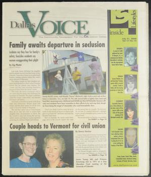 Primary view of object titled 'Dallas Voice (Dallas, Tex.), Vol. 17, No. 12, Ed. 1 Friday, July 21, 2000'.