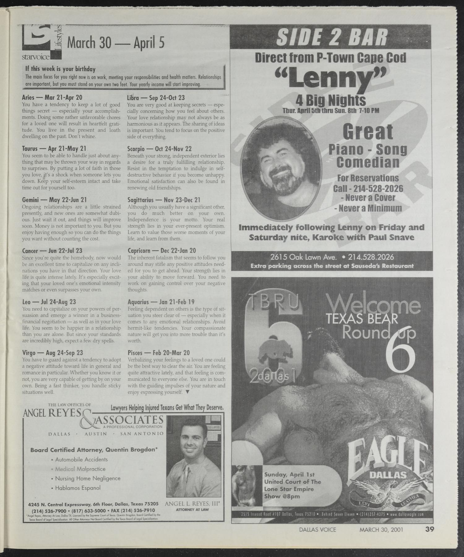 Dallas Voice (Dallas, Tex ), Vol  17, No  48, Ed  1 Friday