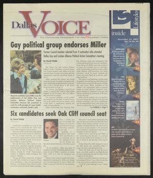 Primary view of object titled 'Dallas Voice (Dallas, Tex.), Vol. 18, No. 34, Ed. 1 Friday, December 14, 2001'.