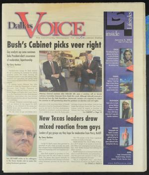 Primary view of object titled 'Dallas Voice (Dallas, Tex.), Vol. 17, No. 36, Ed. 1 Friday, January 5, 2001'.
