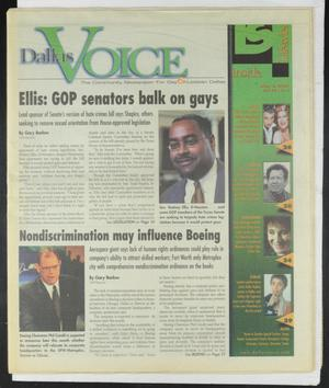 Primary view of object titled 'Dallas Voice (Dallas, Tex.), Vol. 18, No. 1, Ed. 1 Friday, May 4, 2001'.