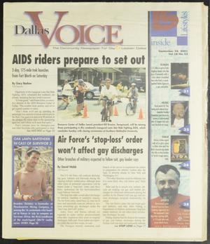 Primary view of object titled 'Dallas Voice (Dallas, Tex.), Vol. 18, No. 23, Ed. 1 Friday, September 28, 2001'.
