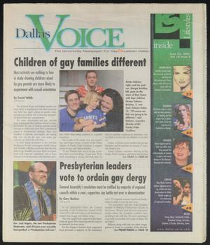 Primary view of object titled 'Dallas Voice (Dallas, Tex.), Vol. 18, No. 8, Ed. 1 Friday, June 22, 2001'.