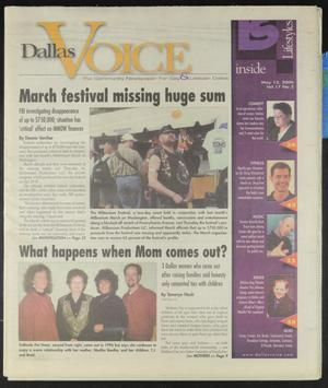 Primary view of object titled 'Dallas Voice (Dallas, Tex.), Vol. 17, No. 2, Ed. 1 Friday, May 12, 2000'.