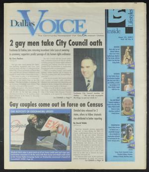 Primary view of object titled 'Dallas Voice (Dallas, Tex.), Vol. 18, No. 8, Ed. 1 Friday, June 15, 2001'.