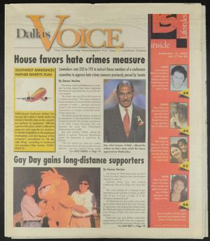 Primary view of object titled 'Dallas Voice (Dallas, Tex.), Vol. 17, No. 20, Ed. 1 Friday, September 15, 2000'.