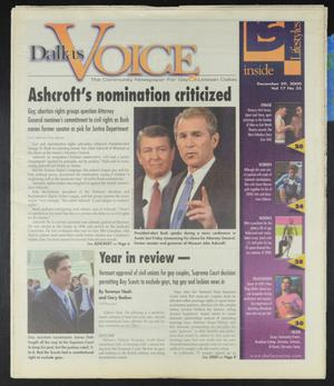 Primary view of object titled 'Dallas Voice (Dallas, Tex.), Vol. 17, No. 35, Ed. 1 Friday, December 29, 2000'.