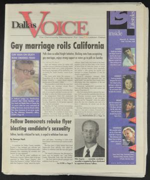 Primary view of object titled 'Dallas Voice (Dallas, Tex.), Vol. 16, No. 44, Ed. 1 Friday, March 3, 2000'.