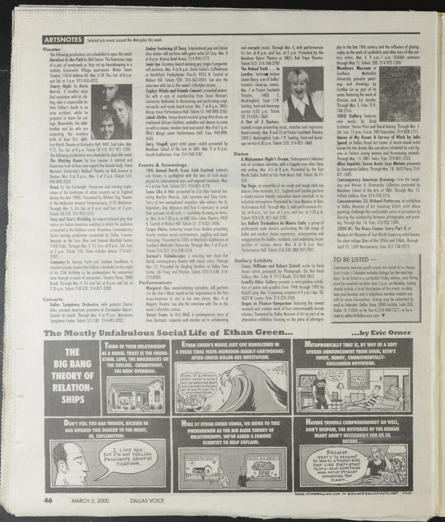 Dallas Voice (Dallas, Tex.), Vol. 16, No. 44, Ed. 1 Friday, March 3, 2000                                                                                                      [Sequence #]: 46 of 102