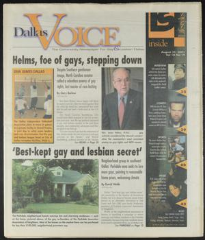 Primary view of object titled 'Dallas Voice (Dallas, Tex.), Vol. 18, No. 19, Ed. 1 Friday, August 31, 2001'.