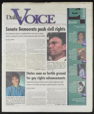 Primary view of object titled 'Dallas Voice (Dallas, Tex.), Vol. 17, No. 40, Ed. 1 Friday, February 2, 2001'.
