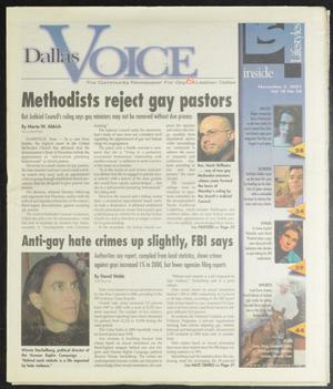 Primary view of object titled 'Dallas Voice (Dallas, Tex.), Vol. 18, No. 28, Ed. 1 Friday, November 2, 2001'.
