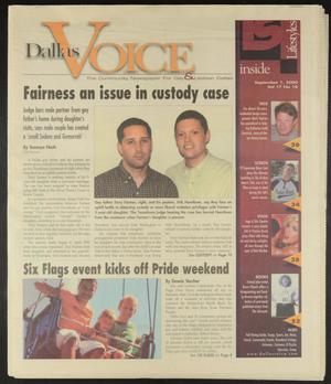 Primary view of object titled 'Dallas Voice (Dallas, Tex.), Vol. 17, No. 18, Ed. 1 Friday, September 1, 2000'.