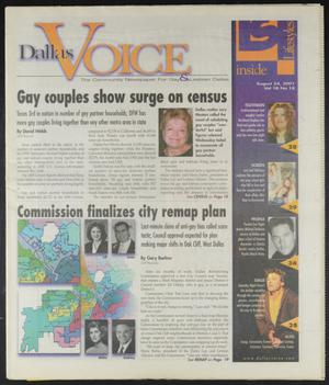 Primary view of object titled 'Dallas Voice (Dallas, Tex.), Vol. 18, No. 18, Ed. 1 Friday, August 24, 2001'.