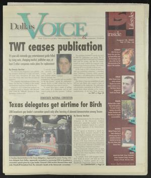 Primary view of object titled 'Dallas Voice (Dallas, Tex.), Vol. 17, No. 16, Ed. 1 Friday, August 18, 2000'.