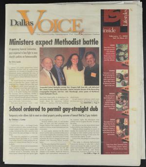 Primary view of object titled 'Dallas Voice (Dallas, Tex.), Vol. 16, No. 41, Ed. 1 Friday, February 11, 2000'.