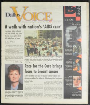 Primary view of object titled 'Dallas Voice (Dallas, Tex.), Vol. 18, No. 26, Ed. 1 Friday, October 19, 2001'.