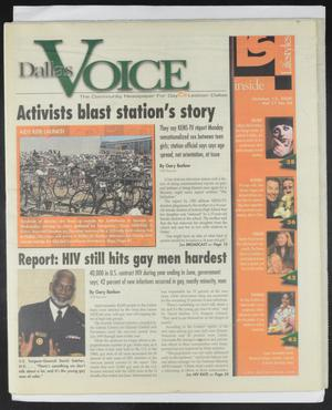 Primary view of object titled 'Dallas Voice (Dallas, Tex.), Vol. 17, No. 24, Ed. 1 Friday, October 13, 2000'.