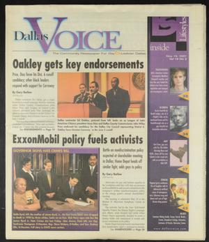 Primary view of object titled 'Dallas Voice (Dallas, Tex.), Vol. 18, No. 3, Ed. 1 Friday, May 18, 2001'.