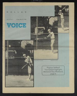 Primary view of object titled 'Dallas Voice (Dallas, Tex.), Vol. 3, No. 3, Ed. 1 Friday, May 23, 1986'.