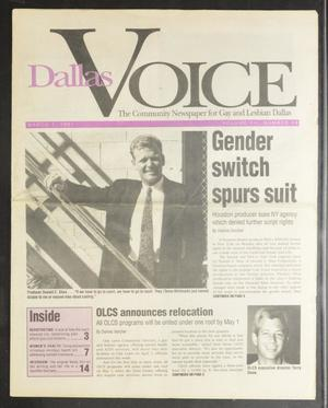 Primary view of object titled 'Dallas Voice (Dallas, Tex.), Vol. 7, No. 44, Ed. 1 Friday, March 1, 1991'.