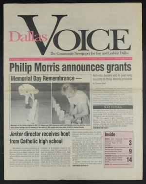 Primary view of object titled 'Dallas Voice (Dallas, Tex.), Vol. 8, No. 5, Ed. 1 Friday, May 31, 1991'.