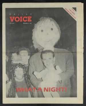 Primary view of object titled 'Dallas Voice (Dallas, Tex.), Vol. 6, No. 26, Ed. 1 Friday, November 3, 1989'.