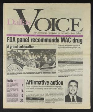 Primary view of object titled 'Dallas Voice (Dallas, Tex.), Vol. 9, No. 22, Ed. 1 Friday, September 25, 1992'.